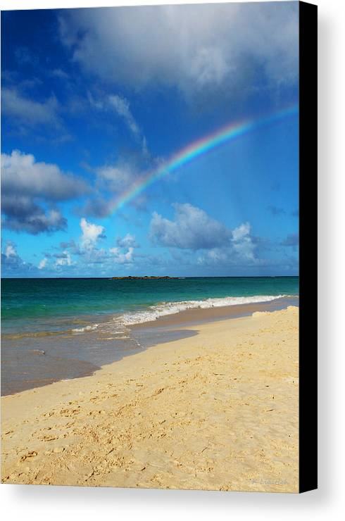 Rainbow Canvas Print featuring the photograph Blessed With A Rainbow by Kerri Ligatich