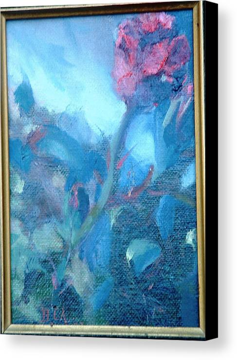 Still Life Canvas Print featuring the painting Bob Hope Rose by Bryan Alexander