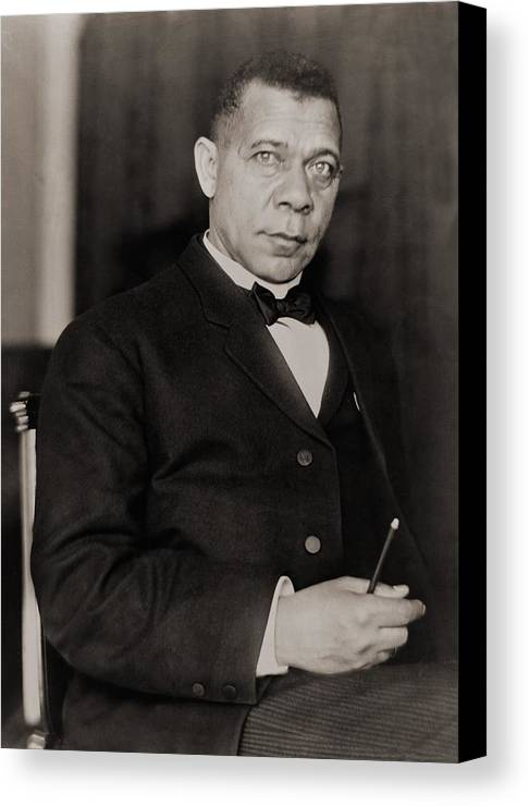 History Canvas Print featuring the photograph Booker T. Washington 1856-1915, Became by Everett