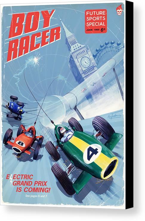 Eprix Canvas Print featuring the digital art Boy Racer by Alex Tomlinson