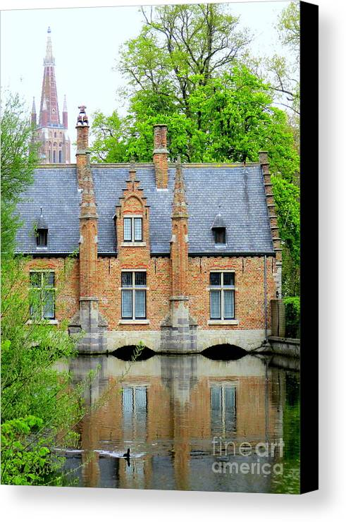 Bruges Canvas Print featuring the photograph Bruges Sashuis 4 by Randall Weidner
