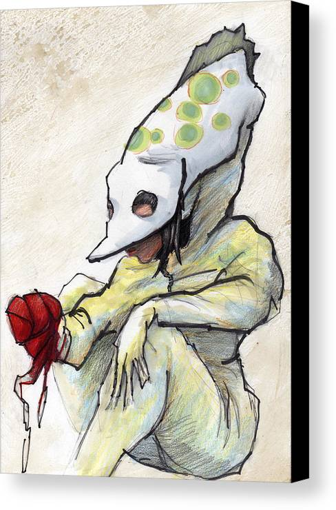 Grrl Canvas Print featuring the painting Carnival Hat by Ethan Harris
