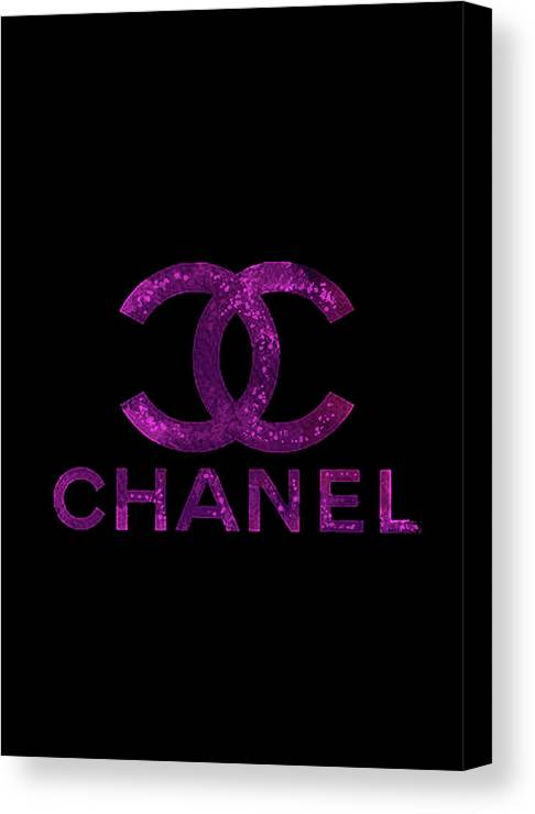Chanel Logo Poster Canvas Print featuring the mixed media Chanel Print by Del Art