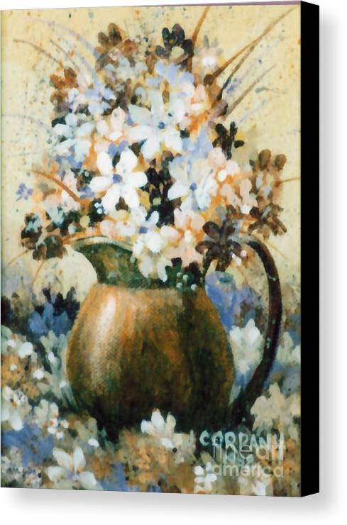 Copper Canvas Print featuring the painting Copper Pitcher by JoAnne Corpany
