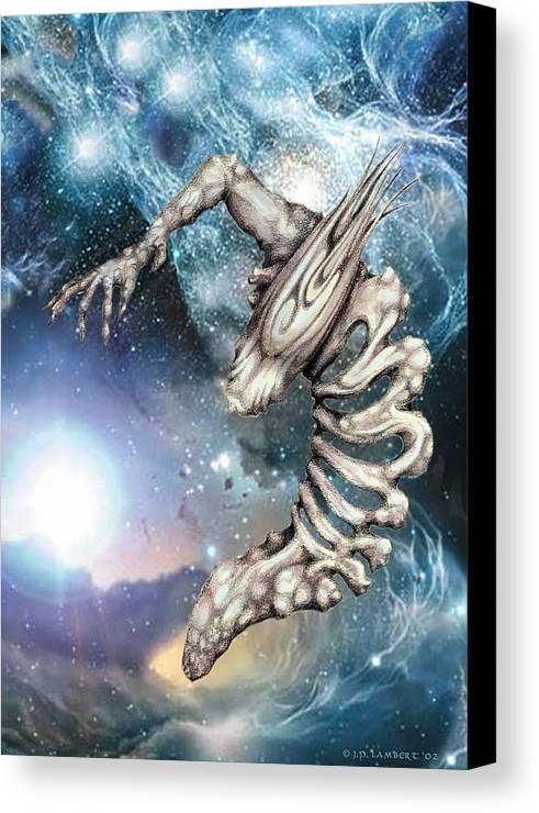 Alien Canvas Print featuring the digital art Crescent by J P Lambert
