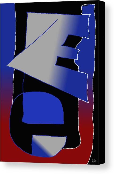 Eu Canvas Print featuring the digital art E-likes-eu by Helmut Rottler