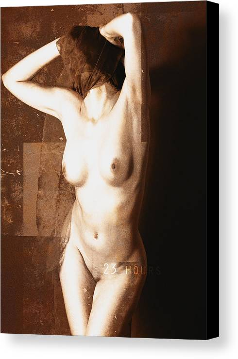 Erotic Art Canvas Print featuring the photograph Erotic Art 23 Hours by Falko Follert