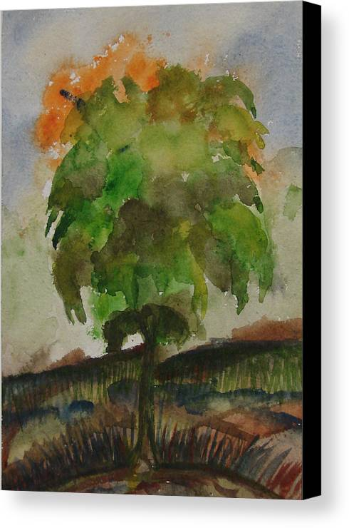 Tree Canvas Print featuring the painting Esoteric Tree by Aim to be Aimless