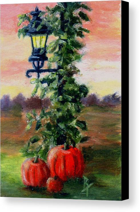 Fall Canvas Print featuring the painting Fall Aceo by Brenda Thour