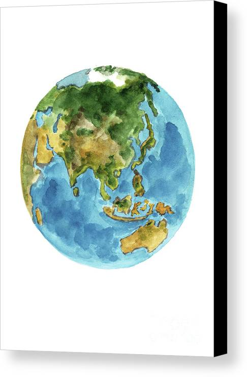 Planet earth colors geography world map australia new zealand painting canvas print featuring the painting planet earth colors geography world map australia new gumiabroncs Images