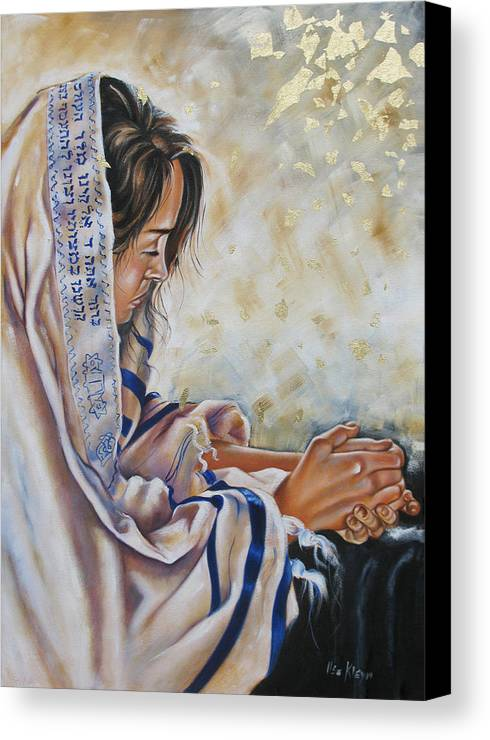 Christian Canvas Print featuring the painting Glory In His Name by Ilse Kleyn