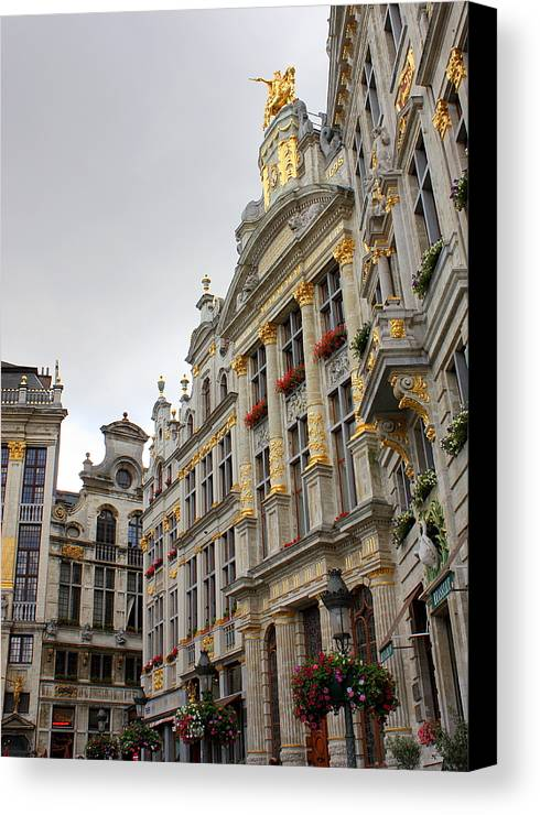 Brussels Canvas Print featuring the photograph Golden Grand Place by Carol Groenen