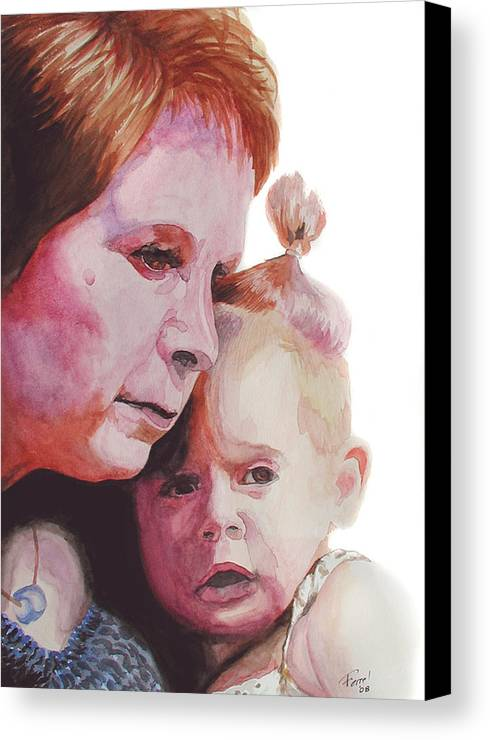 Baby Canvas Print featuring the painting Grandchild by Ferrel Cordle