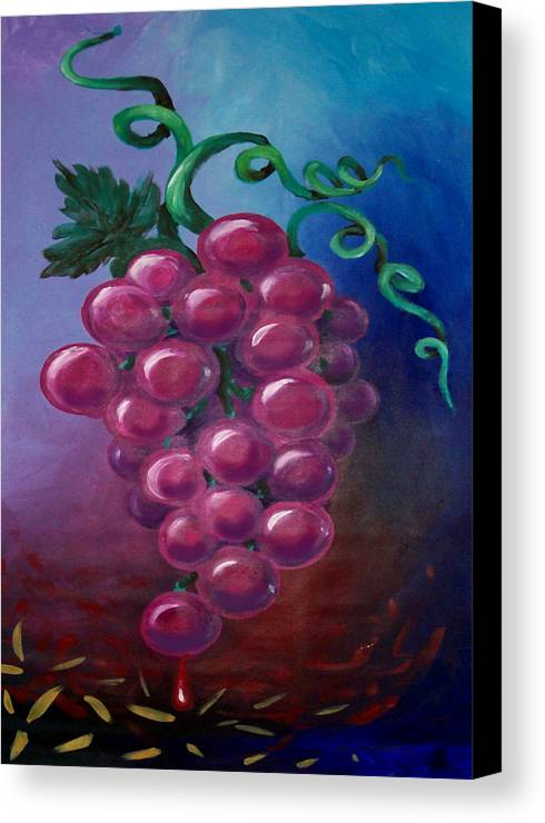 Grape Canvas Print featuring the painting Grapes by Kevin Middleton
