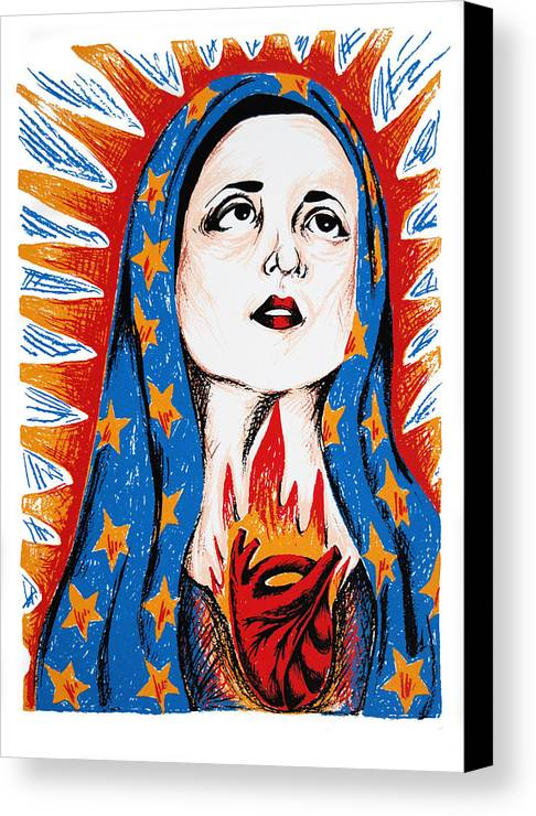 Deann Acton Canvas Print featuring the print Guadalupe by DeAnn Acton