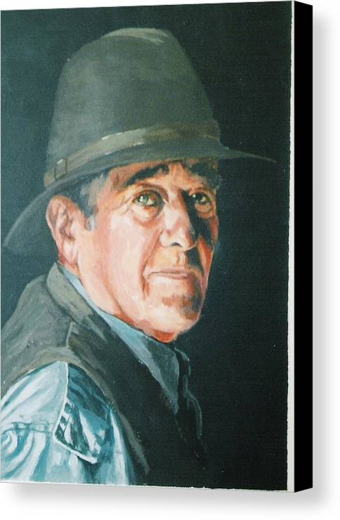 Portrait Of Man. Canvas Print featuring the painting Hans by Barry Smith