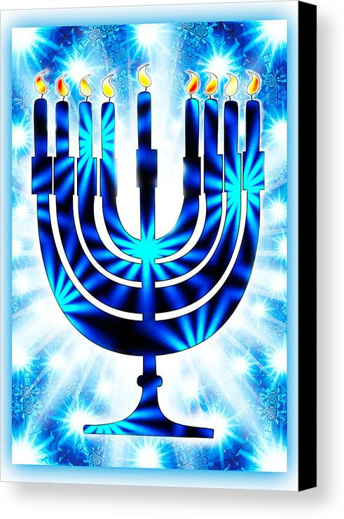 Hanukkah greeting card ix canvas print canvas art by aurelio zucco hanukkah canvas print featuring the digital art hanukkah greeting card ix by aurelio zucco m4hsunfo