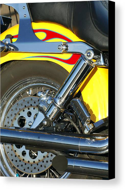 Harley-davidson Twin Cam Canvas Print featuring the photograph Harley-davidson Twin Cam 88 Rear Wheel by Jill Reger