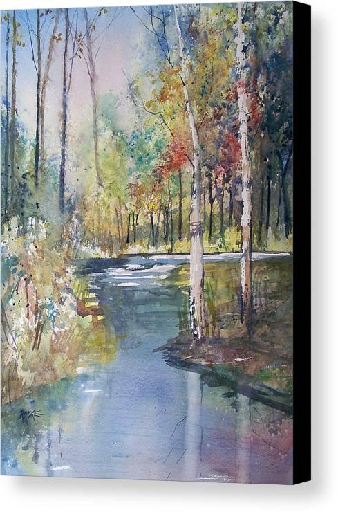 Ryan Radke Canvas Print featuring the painting Hartman Creek Birches by Ryan Radke