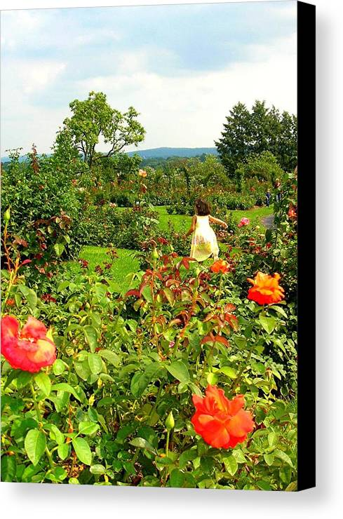 Figure Canvas Print featuring the photograph Hershey Garden by Caroline Urbania Naeem