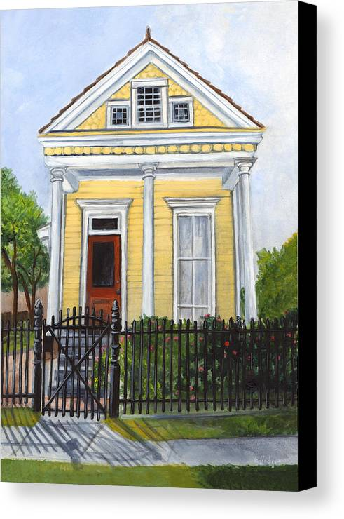 House Paintings Canvas Print featuring the painting Historic Louisiana Cottage by Elaine Hodges