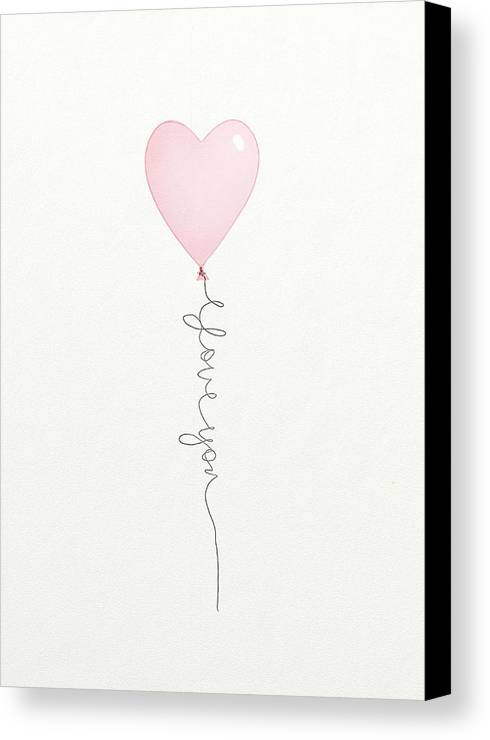 Balloon Canvas Print featuring the digital art I Love You by Tonya Doughty