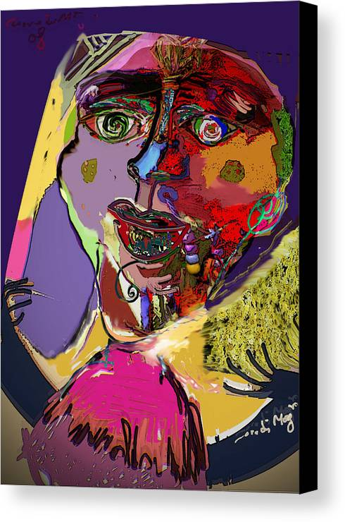 Mask Canvas Print featuring the painting I'm Not What You Think I'm by Noredin Morgan
