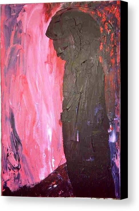 Red Canvas Print featuring the painting Imagine by Bruce Combs - REACH BEYOND