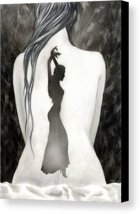 Dance Canvas Print featuring the painting Invocation by Miko At The Love Art Shop