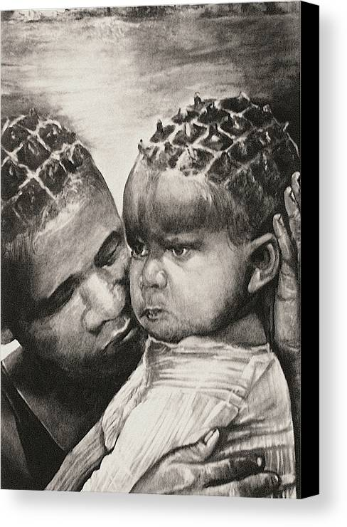 It's Alright Canvas Print featuring the drawing It's Alright by Curtis James