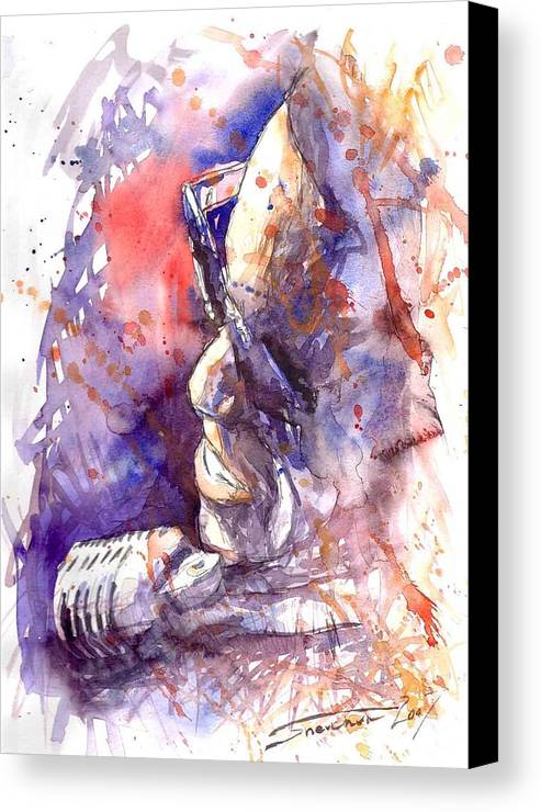 Portret Canvas Print featuring the painting Jazz Ray Charles by Yuriy Shevchuk