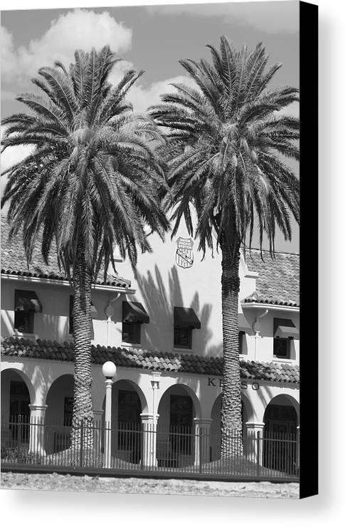 Black And White Canvas Print featuring the photograph Kelso Depot by Troy Montemayor