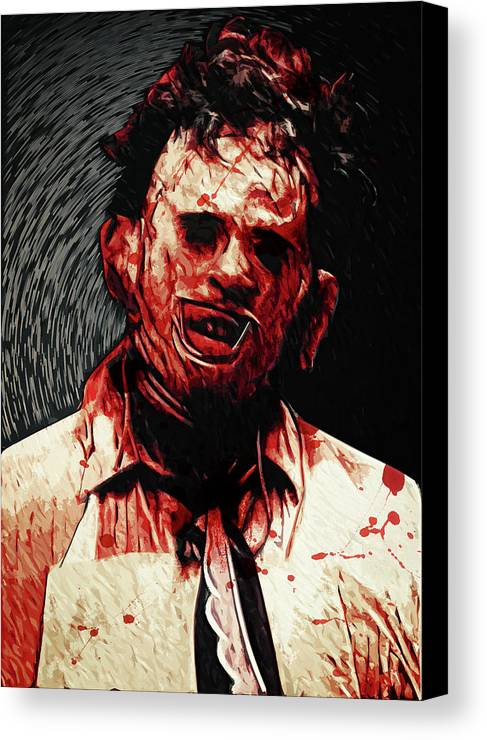 Leatherface Canvas Print featuring the digital art Leatherface by Zapista