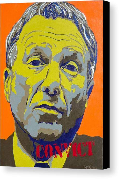Politics Canvas Print featuring the painting Libby by Dennis McCann