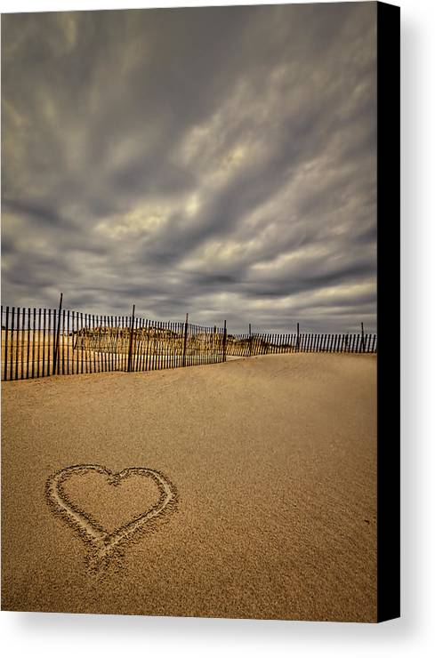 Beach Canvas Print featuring the photograph Love On The Forecast by Evelina Kremsdorf