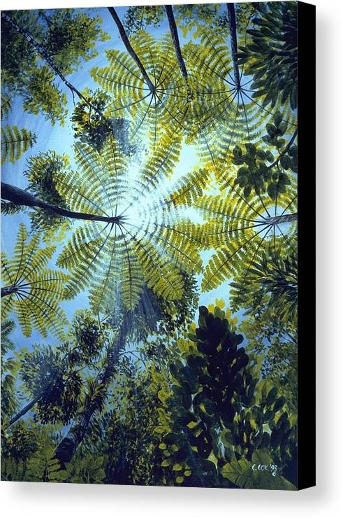 Chris Cox Canvas Print featuring the painting Majestic Treeferns by Christopher Cox