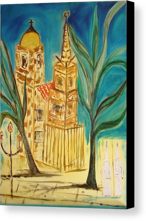 Spain Canvas Print featuring the painting Malaga by Roger Cummiskey