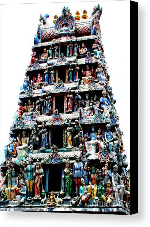 Singapore Canvas Print featuring the photograph Mariamman Temple 1 by Randall Weidner