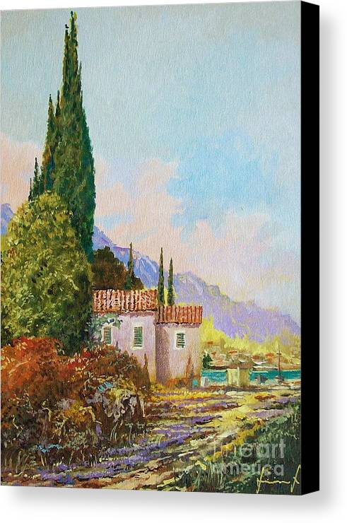 Original Painting Canvas Print featuring the painting Mediterraneo 2 by Sinisa Saratlic