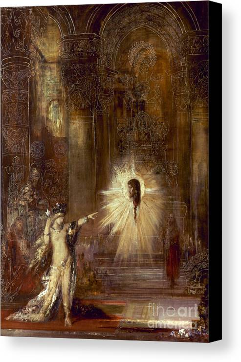1876 Canvas Print featuring the painting Moreau: Apparition, 1876 by Granger