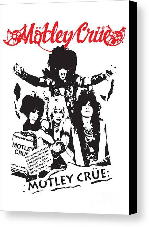 Motley Crue Canvas Print featuring the digital art Motley Crue No.01 by Caio Caldas