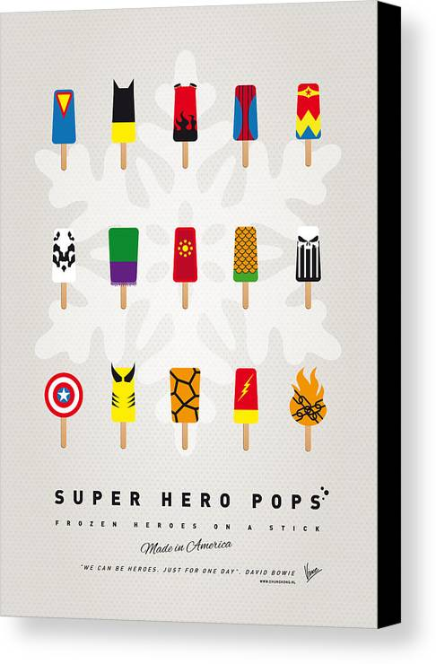 Superheroes Canvas Print featuring the digital art My Superhero Ice Pop - Univers by Chungkong Art