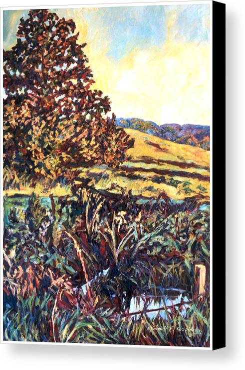 Landscape Canvas Print featuring the painting Near Childress by Kendall Kessler