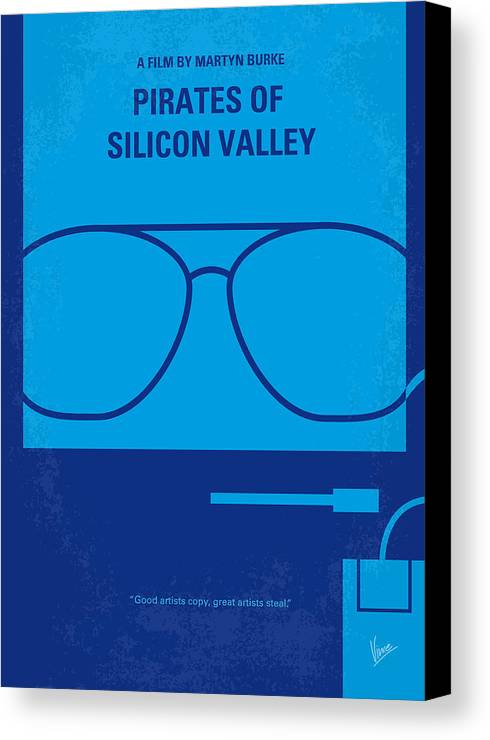 Pirates Canvas Print featuring the digital art No064 My Pirates Of Silicon Valley Minimal Movie Poster by Chungkong Art