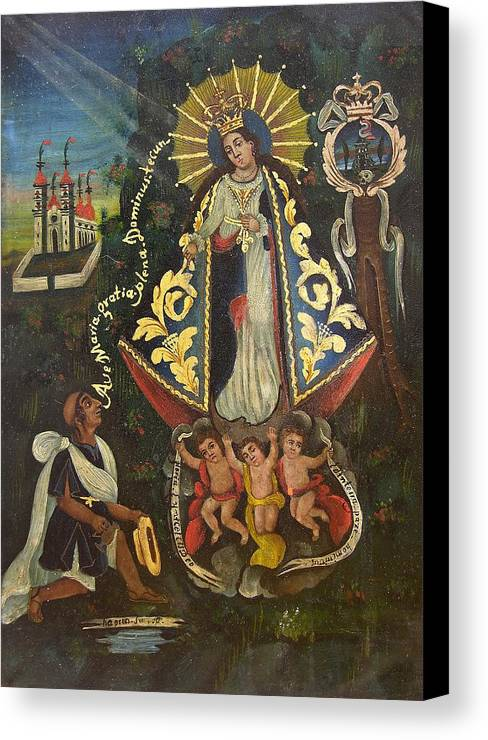 Devotional Canvas Print featuring the painting Nuestra Senora De Ocotlan II by Unknown