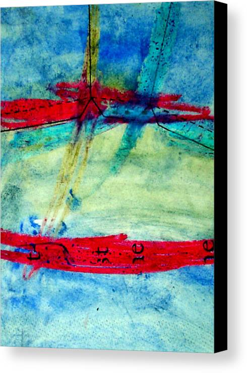 Abstract Canvas Print featuring the mixed media Pattern by Kim Putney