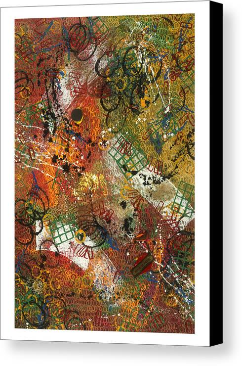 Abstract Canvas Print featuring the painting Pour La Pluie by Dominique Boutaud