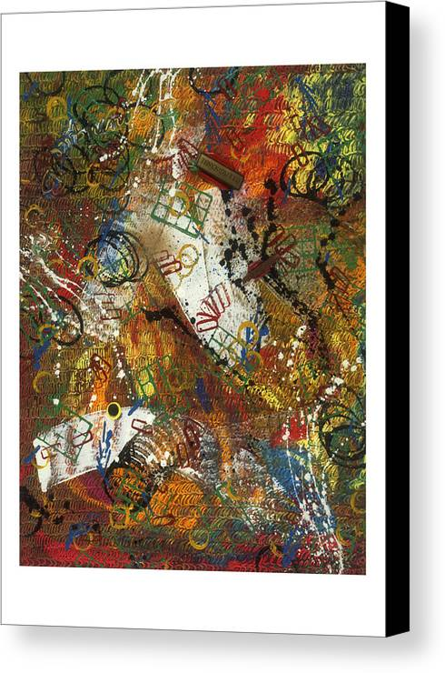 Abstract Canvas Print featuring the painting Pour Pied Sensible by Dominique Boutaud