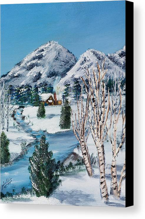 Landscape Canvas Print featuring the painting Quiet Morning by Julia Ellis