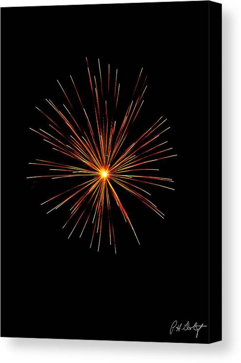 July 4th Canvas Print featuring the photograph Red Burst by Phill Doherty